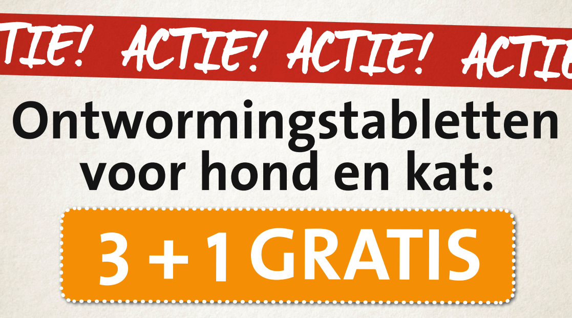 ontworming 3 + 1
